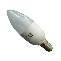 LED Leuchtmittel E14 (Kerzenform, 5,5 Watt, 230V)