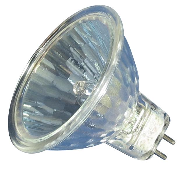 Niedervolthalogenlampe mit Kaltspiegel (12 V, 35 Watt, GY 6,35) Tageslicht-Vollspektrum RA 96