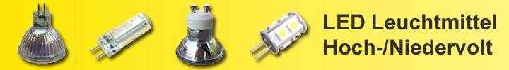 LED-Leuchtmittel Hoch- und Niedervolt
